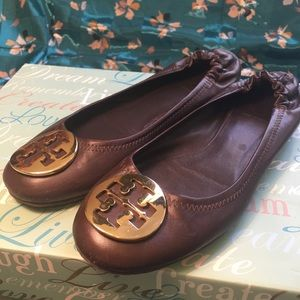 Tory Burch Chocolate Ballet Flats 🥿